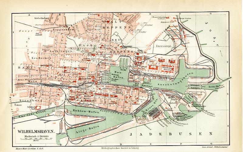 Wilhelmshaven Niedersachsen Stadt  Kirche Bevölkerung Original Karte 1902
