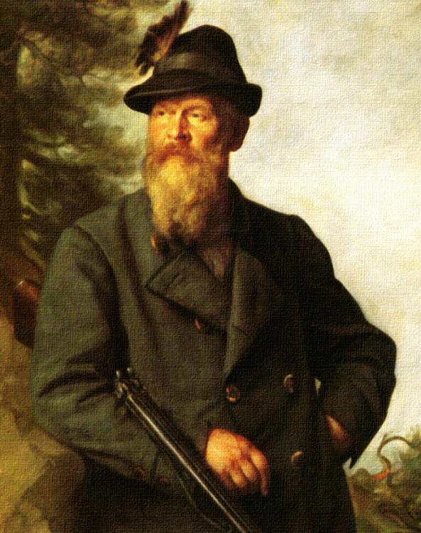 Prinzregent Luitpold auf der Jagd Franz von Defregger Leinwand Goldrahmen 590