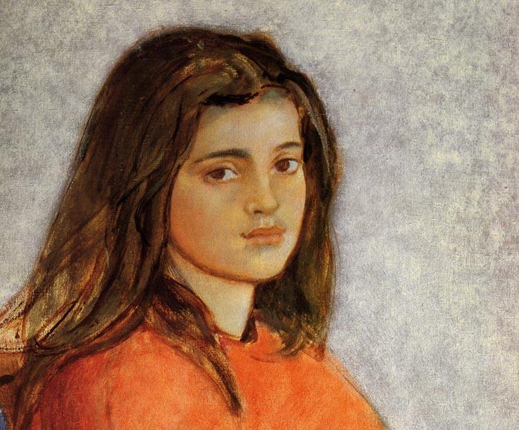 Frederique Klossowski Mädchen Portrait Kunst Balthus 18 Gerahmt