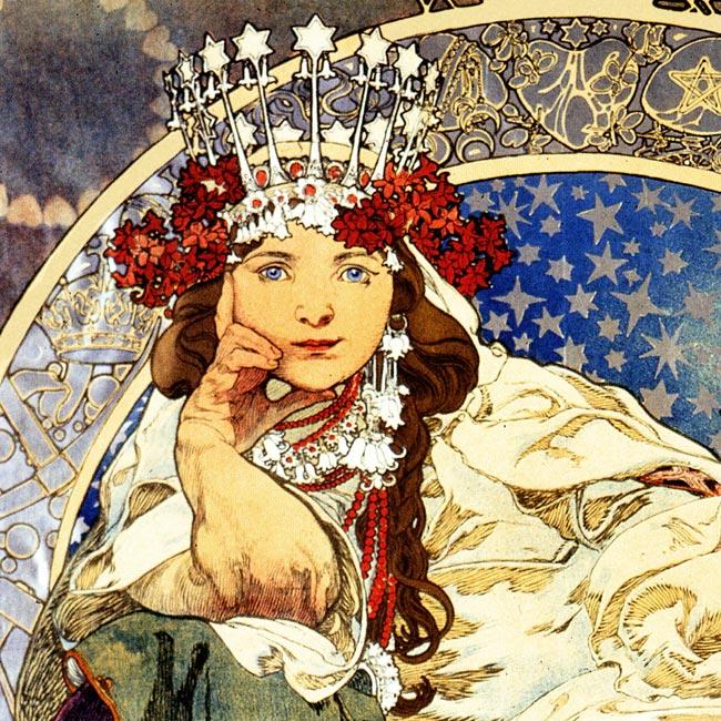 Prinzessin Hyazinthe Princezka Hyazinta Jugendstil Alfons Mucha A3 04