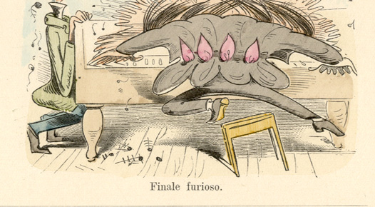 Der Virtuos Wilhelm Busch PIANO VIRTUOSE ADAGIO SCHERZO MÜNCHENER BILDERBOGEN220